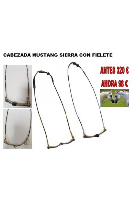 Cabezada Mustang SIERRA/FILETE